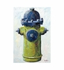 Big Squirt Green Hydrant Canvas Reproduction