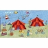 Big Top Circus Chair Rail Prepasted Wall Mural