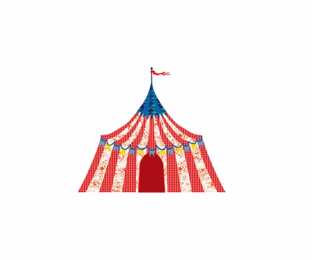 Big Top Circus Tent Fabric Wall Decals