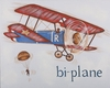 Biplane Hand Painted Art