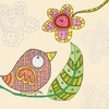 Bird and Leaf II Canvas Wall Art
