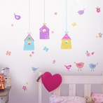 Bird Houses Wall Decals