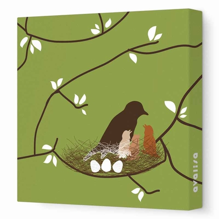 Bird Nest Canvas Wall Art