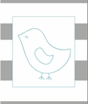 Bird on Stripes Canvas Reproduction