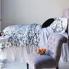 Bird Toile White Duvet Cover