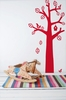 Bird Tree in Red Kids Wall Stickers