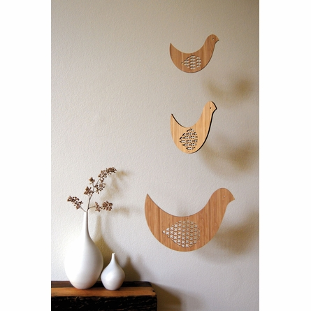Bird Trio Bamboo Mobile