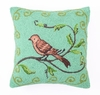 Bird Watcher in Blue Hook Pillow