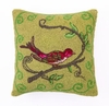 Bird Watcher in Green Hook Pillow