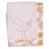 Bird Whimsy Pink Boa Baby Blanket