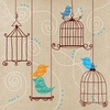 Birds and Cages I Canvas Wall Art
