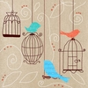 Birds and Cages II Canvas Wall Art