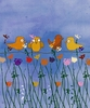 Birds and Flowers I Canvas Wall Art
