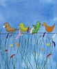 Birds and Flowers II Canvas Wall Art
