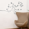 Birds & Buds in Medium Grey Wall Decal