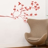 Birds & Buds in Red Wall Decal