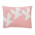 Birds Knit Boudoir Pillow