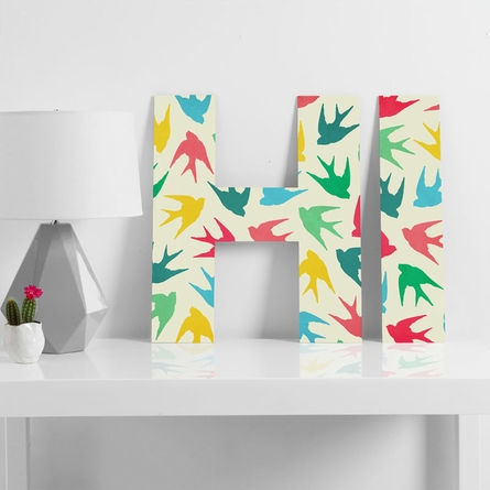 Birds Multicolor Decorative Letters
