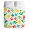 Birds Multicolor Luxe Duvet Cover