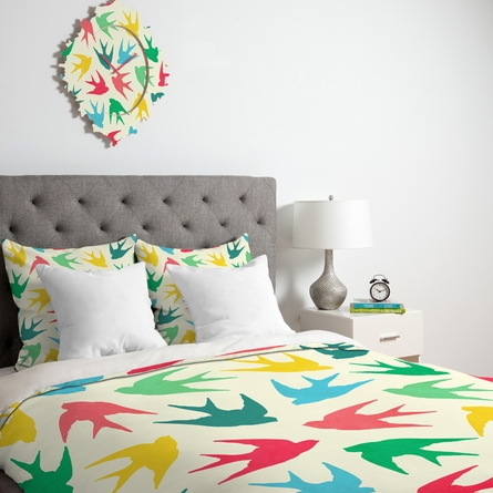 Birds Multicolor Duvet Cover