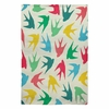 Birds Multicolor Flat Weave Rug