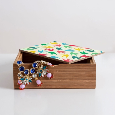 Birds Multicolor Jewelry Box