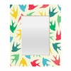 Birds Multicolor Rectangular Mirror