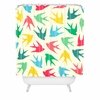 Birds Multicolor Shower Curtain
