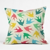 Birds Multicolor Throw Pillow
