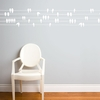 Birds on a Wire in White Wall Decal