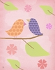 Birds on Pink II Canvas Wall Art