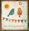 Birds You Are My Sunshine Vintage Framed Art Print
