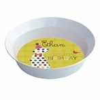 Birthday Boy Puppy Personalized Kids Bowl