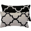 Black and BeigeLattice Lumbar Pillow