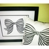 Black and White Bow Art Print