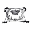 Black and White Crown Throw Pillow