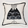 Black and White Dress Form Throw Pillow