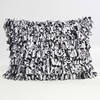 Black and White Fringe Standard Sham