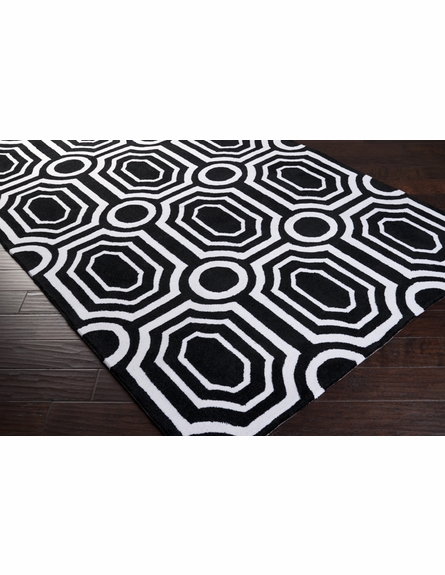 Black and White Geometric Hudson Park Rug