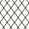 Black and White Modern Trellis Wallpaper