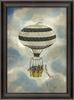 Black And White Striped Balloon Framed Wall Art
