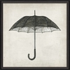 Black And White Umbrella Framed Wall Art