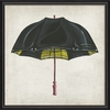 Black And Yellow Umbrella Framed Wall Art