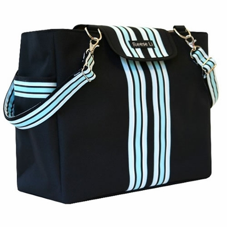 Black Baby Blue Lexington Diaper Bag