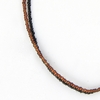Black & Brown Seed Bead Necklace