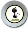 Black Cat Personalized Melamine Bowl