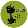 Black Cat Personalized Melamine Plate