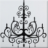 Black Chandelier Imagination Square Hand Painted Canvas Art