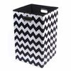 Black Chevron Canvas Laundry Bin