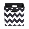 Black Chevron Canvas Storage Bin